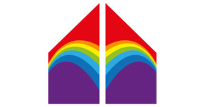 A red-purple rainbow