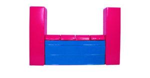 różowo-niebieski
